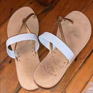 Hand made and crafted sandals made in Capri Italy!